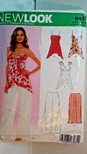 New Look Separates Pattern 6497 - Misses' Pants and Knit Tops - Sz 10 thru 22 (Tops Misses Look Knit New)
