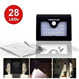Solar Garden Light, 28 Led's Wall Light with Motion Sensor, 2-mode Bright and Dim - HOBBYMATE