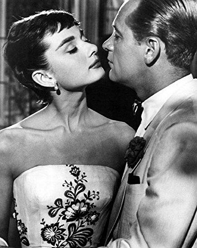 (Peel-n-Stick Poster of Actor Vintage Audrey Hepburn Actress William Holden Poster 24x16 Adhesive Sticker Poster Print)