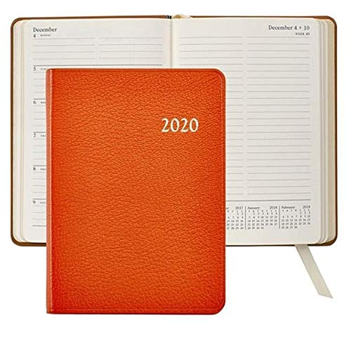 Graphic Image 2019 Notebook Planner 7'' Brights-ORANGE Fine Leather (Best Currency Exchange Rates Los Angeles)