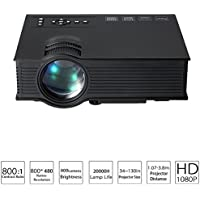 OnlineDo Updated Full Color 130 Image UC40 Pro Mini Portable LCD LED Home Theater Cinema Game Projector -Black