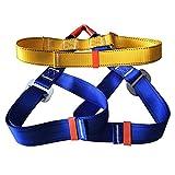 Cibeat Adjustable Climbing Harness Protection Leg Waist Safe Seat Belts-Rock Climbing Mountaineering