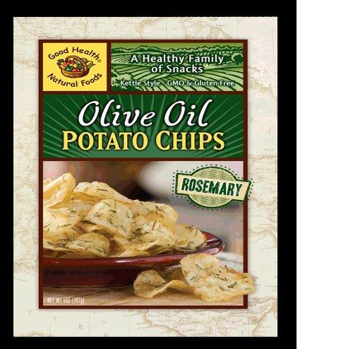 Картофельные чипсы Хорошее здоровье чайник Стиль оливковое масло, розмарин, 5-унция сумки (Pack 12)