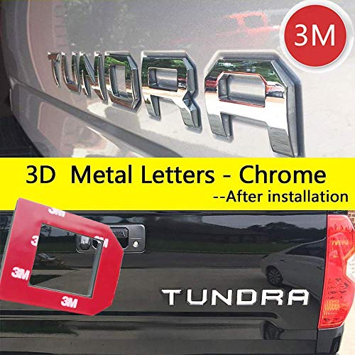 - Super Repairman for Toyota Tundra 2014-2019 Special 3D Zinc Alloy Tailgate Insert Letters - (Chrome) (Not Decal Sticker)