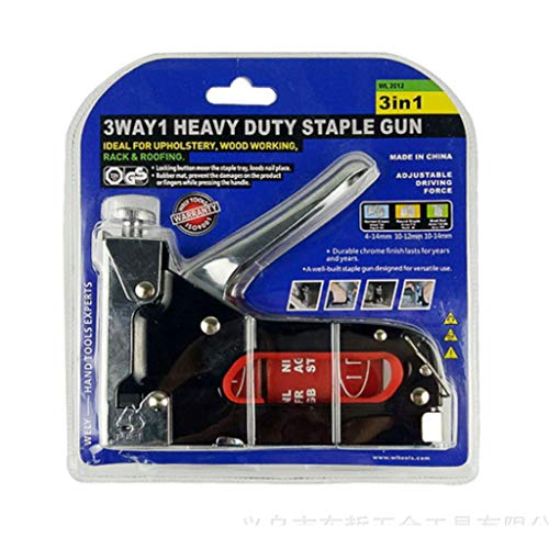 Homyl Nail Stapler Heavy Duty Upholstery Carpenter Hand Nailer with U/T/ Door Shaped Nails not Included by Homyl (Image #5)