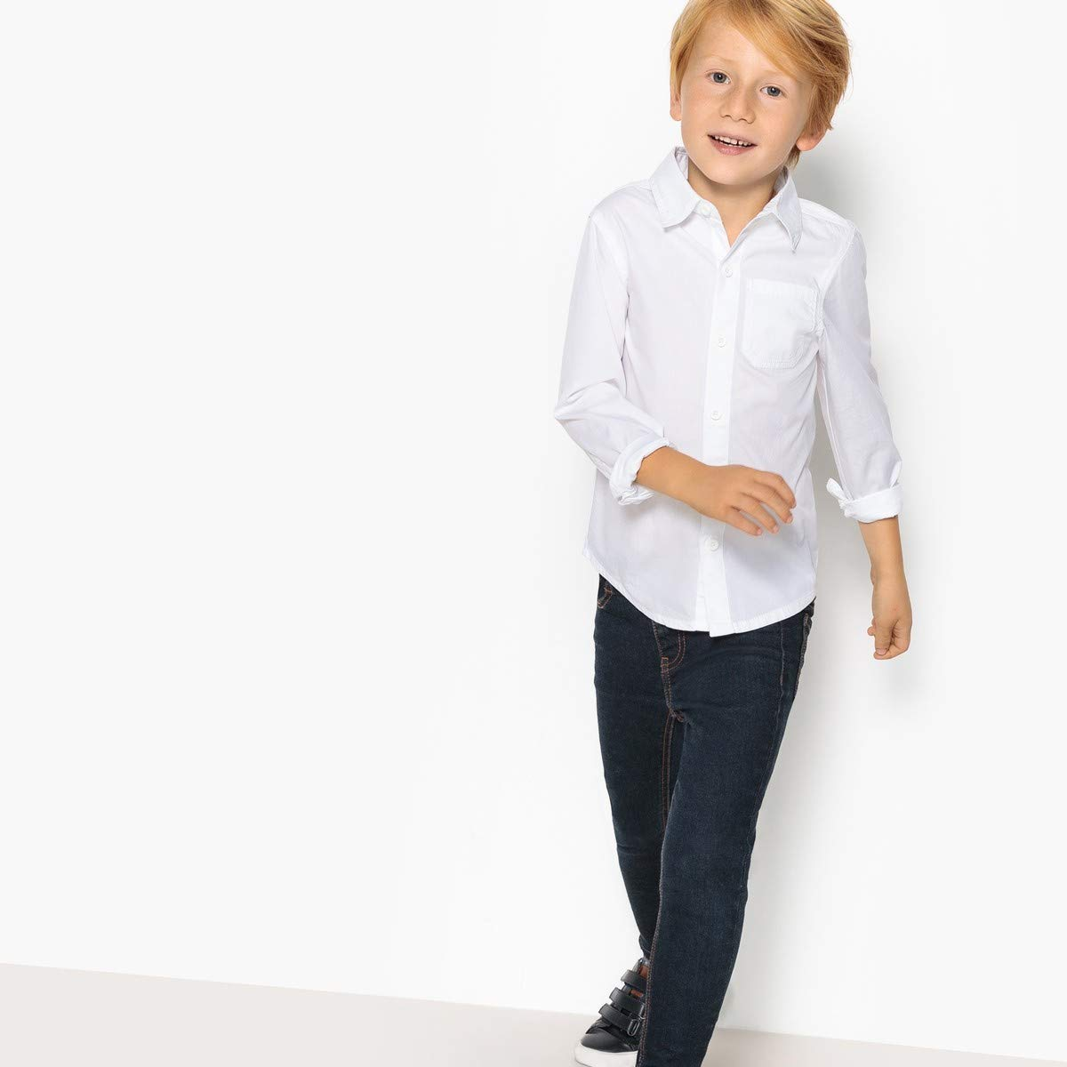 La Redoute Collections Big Boys Boy/'S Long-Sleeved Pure Cotton Shirt