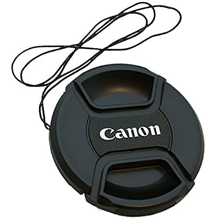 smars Front Replacement Lens Cap Camera Lens Cover with 58 mm Center Pinch for Canon DSLR  Black
