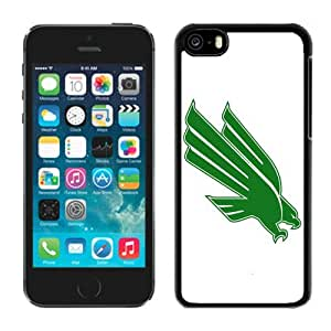 linJUN FENGCoolest White Back Shell Cover for Iphone 5c Ncaa Conference USA North Texas Mean Green 5 Cheap Cell Phone Accessories Protective Case