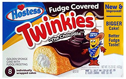Hostess Chocodile Twinkies (Fudge Covered) 2 Boxes by Hostess