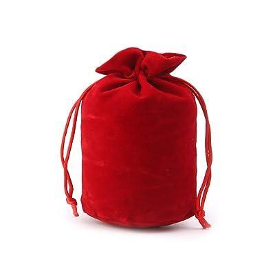 PoityA Velvet Dice Bag Jewelry Packing Drawstring Bag Board Game - Red: Toys & Games [5Bkhe0503387]