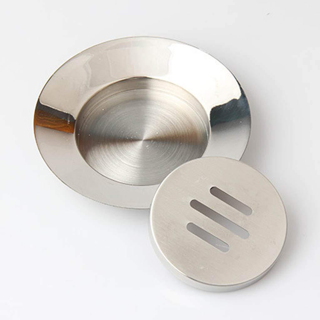 F Fityle Porte-Savon Aluminium Ventouse Support de Douche Porte-Savon /Étag/ère Grille Salle de Bains