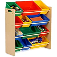 SJ Collection B51800001 Cody's Children Toy Rack Storage Bins, Small, Natural