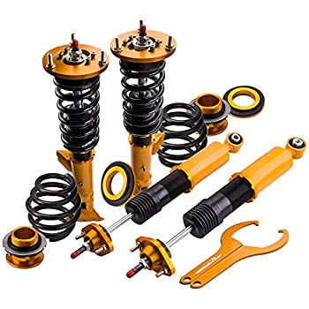 Coilovers with 24-Way Adjustable Damper for BMW 3 Series E36 318i 318is 318ic 323i 323ic 323is 328i 328is 328ic M3 (1992-1999) - Gold