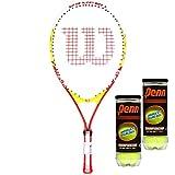 Cheap Wilson Tennis Racket For Kids, U.S. Open 23″ Titanium Junior (Model T2900X) and 2 Cans of Penn Championship XD Tennis Balls (6 Tennis Balls Total)
