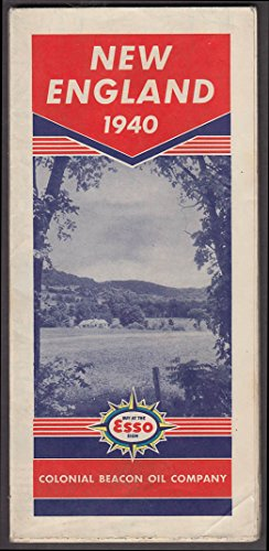 Colonial Beacon Oil Company Esso Road Map New England 1940