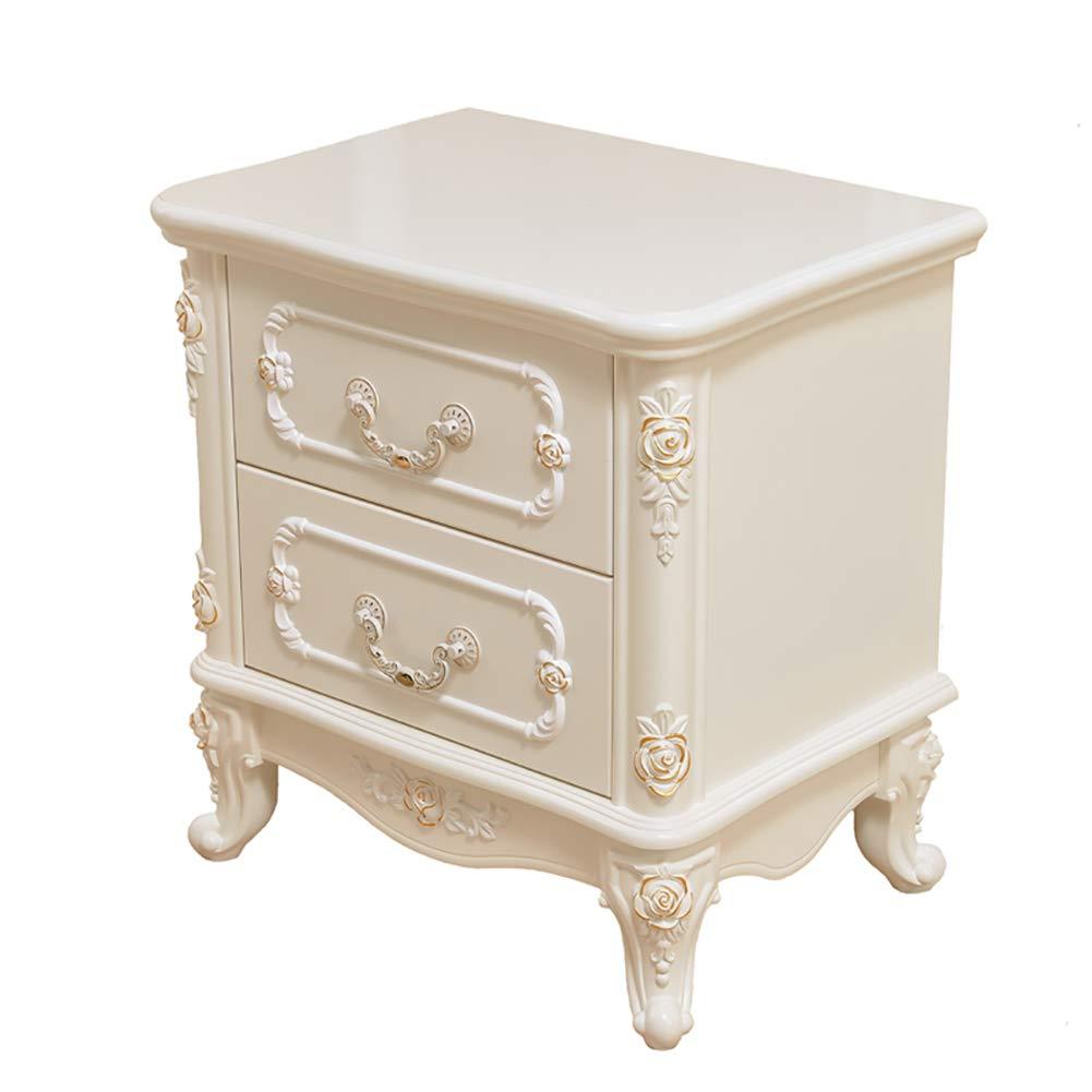 3 Small coffee table Nachttisch Multifunktionsspeicher Stauraum Sofa Beistelltisch, leicht zu reinigen mit Schubladen weiß, DREI Größen erhältlich