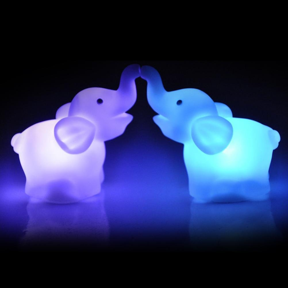 Captivating Amazon.com: Goodtrade8 7 Color LED Light Changing Elephants Night Lamps,  Pack Of 2, White: Sports U0026 Outdoors