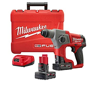 "Milwaukee 2416-22xc M12 Fuel 5/8"" Sds Plus Rotary Hammer Kit With Two Batteries"