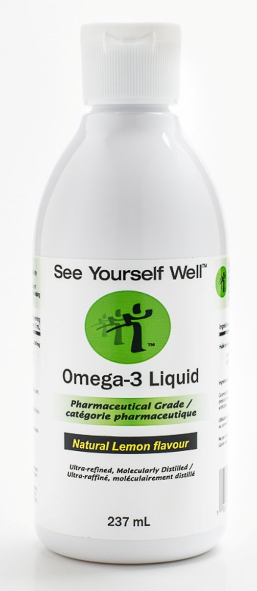 Omega 3 Fish Oil: Liquid - Natural Lemon Flavor. See Yourself Well Omega-3 2500, Highly Concentrated 1500 mg EPA + 1000 mg DHA = 2500 mg EPA/DHA per Daily Teaspoon/5 ml Serving. Natural Triglyceride Formula Fish Oil is Highly Bioavailable and Rapidly Absorbed. IFOS 5-star Certified for Safety, Purity and Label Accuracy. 237ml / 8oz Liquid.