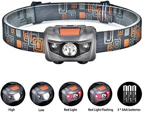 Linkax Linterna Frontal LED Linterna de Cabeza Super Brillante 120 ...