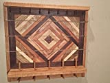 Rustic Jewelry Wall Organizer / Jewelry Storage / Jewelry Organizer / Decorative Jewelry Holder / Wood Jewelry Organizer/ Rustic Wood Storage