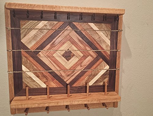 Rustic Jewelry Wall Organizer / Jewelry Storage / Jewelry Organizer / Decorative Jewelry Holder / Wood Jewelry Organizer/ Rustic Wood Storage by Southern Charm Woodworks