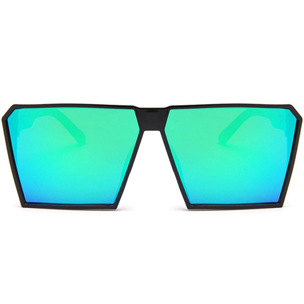 JAGENIE Gafas de sol unisex con montura cuadrada de gran tamaño y lentes de colores para hombres y mujeres Gn