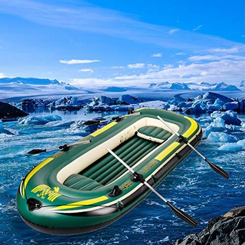 HYYQG Inflatable Kayak Accessories,Sea Fishing Kayak Aluminum Alloy Paddle Air Pump Kit Bottom Plate Bag 4 Person