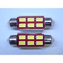 "TWO Xenon HID WHITE Samsung 5730 Canbus Error Free 41mm 42mm 1.75"" Festoon 578 211-2 212-2 214-2 SMD LED Light Bulbs *Lifetime Warranty*"