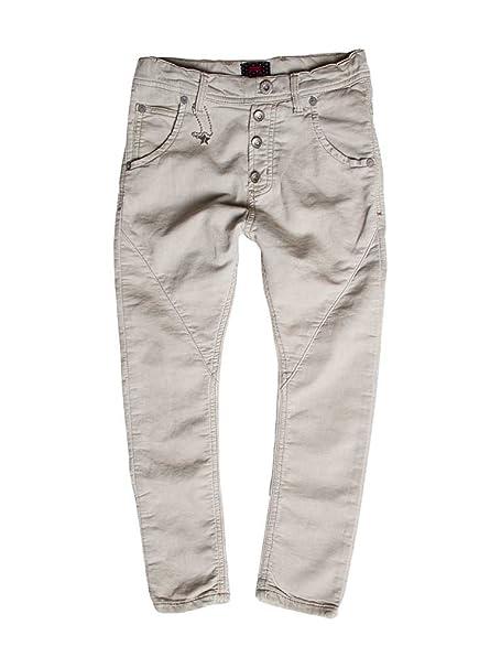 Carrera Jeans - Jogger vaqueros 771 para niña, tiro caído, color liso, interior