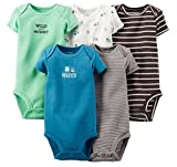 Carter's Baby Boys' 5 Pack Bodysuits (Baby) (24 Months, Dark Assorted)