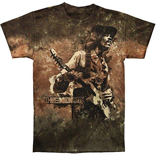 Jimi Hendrix Tie Dye T-shirt (Jimi Hendrix Men's Stone Free Tie Dye T-shirt Large Brown)