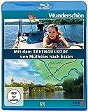 Mit dem Tret-Hausboot über die Ruhr - von Mülheim nach Essen - Wunderschön!