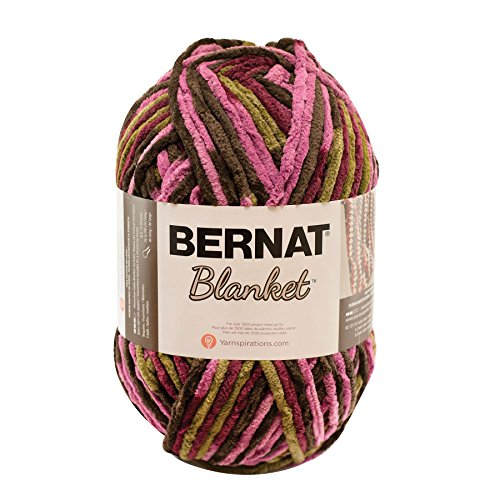 Bernat 16111010302 Blanket Yarn, 10.5 Ounce, Plum Chutney, Single Ball - Bernat Pink Knitting Yarn