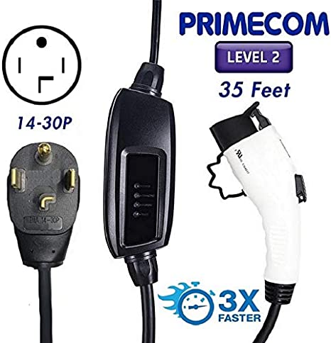 Amazon.com: PRIMECOM - Cargador eléctrico de coche (EV, 220 ...