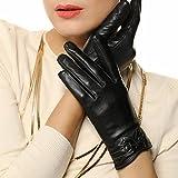 (US) Suntasty women's Hand-knit winter sheepskin warm gloves G25BlackS