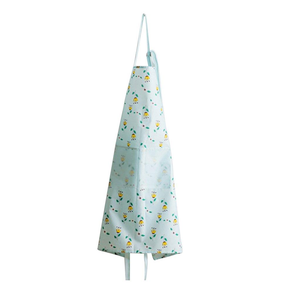 bismarckbeer Apron for Women with Pocket Waterproof Floral Kitchen Cooking Apron Oil Resistant