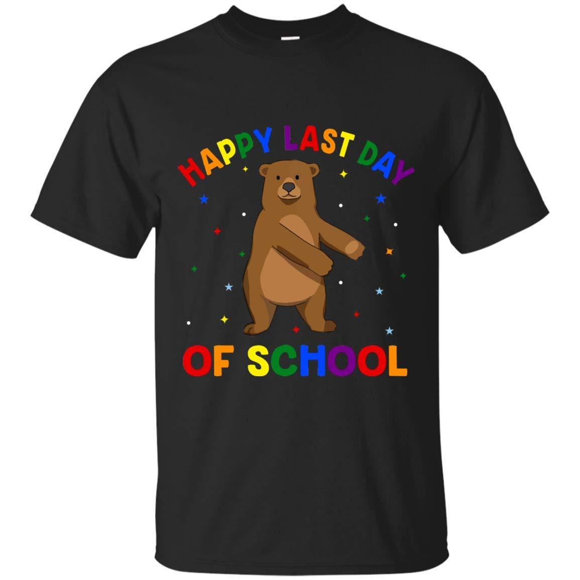 Teebim Flossing Bear Floss Dance Happy Last Day Of School Tshirt For S