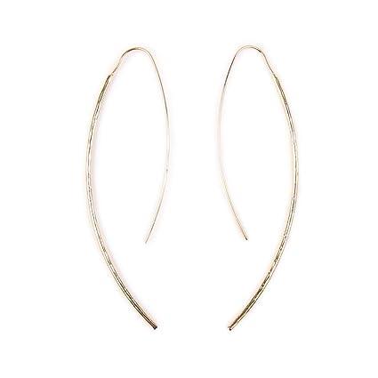 701565d633f21 Amazon.com: HOMEYU Simple Upside Down Hoops Earrings Open Wire ...