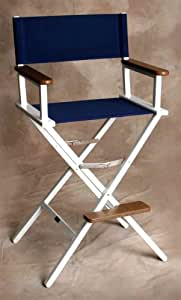 Monterey Bar Chair with White Frame in Marine Blue