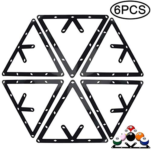 TIHOOD 6PCS Magic Ball Rack Holder Sheet Billiards Triangle Cue Accessories for Magic Ball Rack 8, 9, and 10 Ball Combo Pack and Snooker