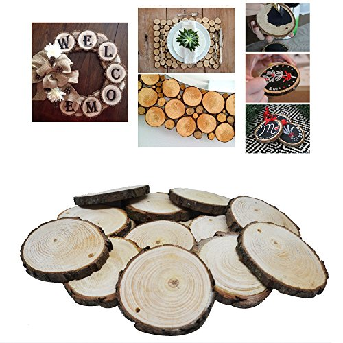 Large Top Drilled Chip (Nature Wood Slices Unfinished By VASWOOD 20 Pieces 2.2 – 2.95 Inch With Natural Jute Twine 9.84Feet For DIY Crafts Wedding Centerpieces and Home Hanging Decorations.)