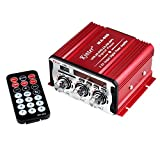 CAIRUTE MA-600 2-Channel Output FM USB SD CD DVD MP3 Player Mini Digital Power Amplifier AMP with Remote Control