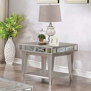 Amazon.com: Coaster Muebles Mesa Auxiliar Cuadrada ...