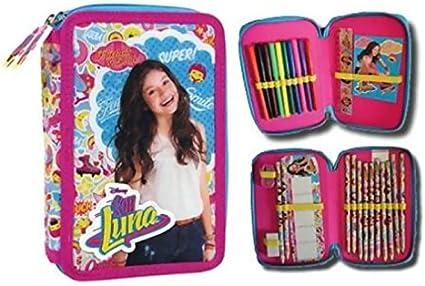 Soy Luna-Estuche escolar con accesorios rellena doble Smile Like Fun Soy Luna Disney: Amazon.es: Oficina y papelería
