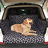 Adorrable Dog Universal Car Seat Covers, Trunk Cargo Liner-Oxford Waterproof for Midsize SUVs Cars & Trucks, Durable Floor Mat Protects Your Vehicle Carseat,Washable Car Accessories,Black,Large