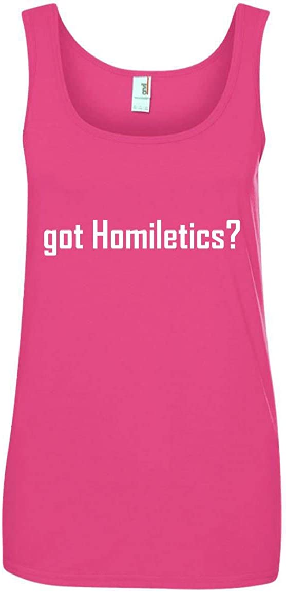 CHICKYSHIRT got Homiletics? A Soft /& Comfortable Womens Ringspun Cotton Tank Top