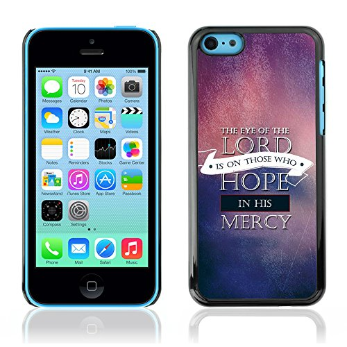 DREAMCASE Citation de Bible Coque de Protection Image Rigide Etui solide Housse T¨¦l¨¦phone Case Pour APPLE IPHONE 5C - THE EYE OF THE LORD