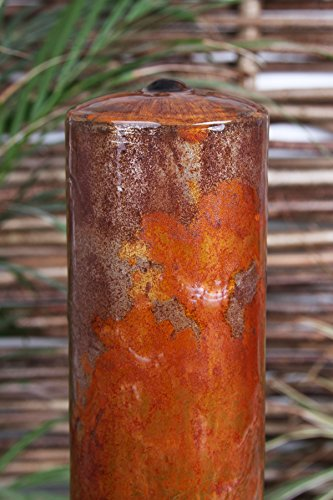 Primrose Corten Steel Three Tiered Tubes Water Feature with LED Lights 1.37m