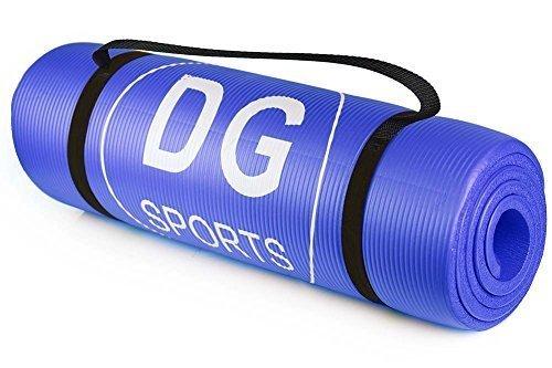 DG SPORTS Thick NBR Comfort Foam Yoga Mat for Exercise, Blue